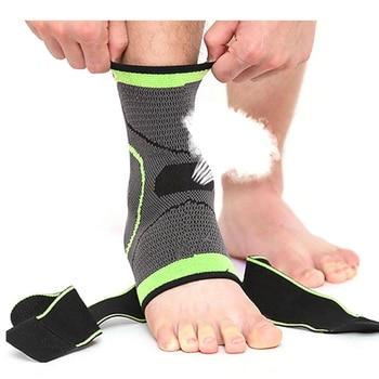 Спортивный фиксатор голеностопа WorthWhile 1 шт., компрессионный ремешок, поддержка рукавов, 3D плетеный эластичный бандаж, защитное снаряжение для ног, тренажерный зал, фитнес, язык алиэкспресс