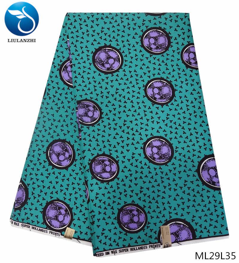LIULANZHI cera ankara tessuti Nuovo arrivo stampato africano della cera poliestere fabirc per le donne del vestito 6 yards/lot ML29L19-ML29L36