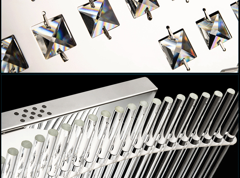 Luxury 4 Color Smooth Sailing Led Lamp K9 Crystal Modern Square Led Ceiling Lights (17)