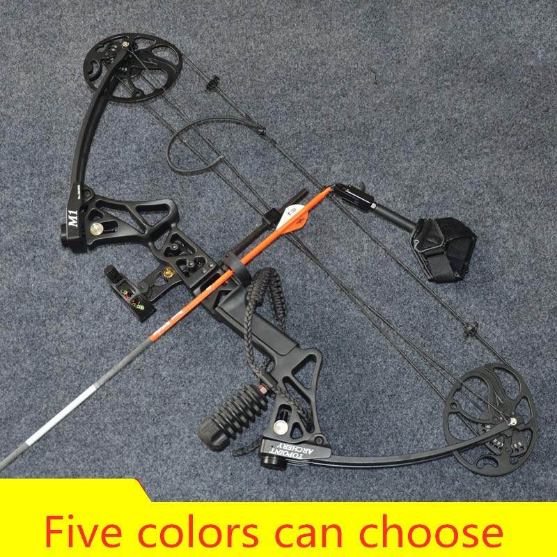 Arc composé M1 pour la chasse arc de tir à l'arc de fronde avec 20-70 lb tirer ensemble de tir humain en plein air mise en service terminée