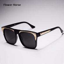 Large Square Transparent frame Sunglasses women New High quality Coating Glasses man Fashion eyewear 4 colors oculos de grau