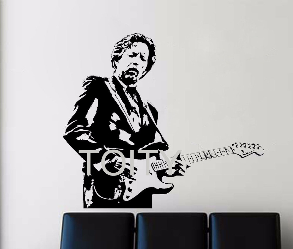 Eric Clapton Wall Stickers Rock and Blues Guitarist Music Vinyl Decals Celebrity Pop Art Decor Dorm Home Room Interior Mural image