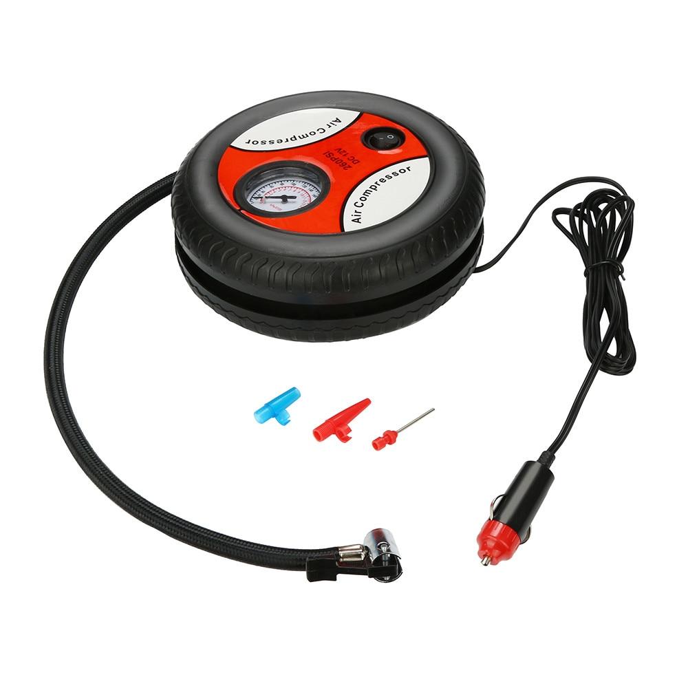 Car Air Pump 260PSI DC 12V Portable Electric Mini Tire Inflator Air Compressor Car Auto Pump 120~150W Dropship A30