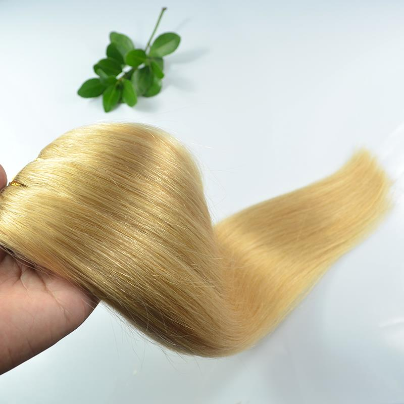 #16 Ash Blonde 2022 100g weight Remy Weft Hair Extensions More Colors 100% Remy Human Weft Hair without clip High Qualityr