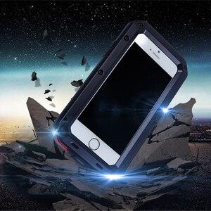 Image 3 - יוקרה שריון חיים הלם Dropproof עמיד הלם אלומיניום הסיליקון מקרה עבור iPhone 8 7 6 6S בתוספת X Xs מקסימום xr מתכת מגן כיסוי