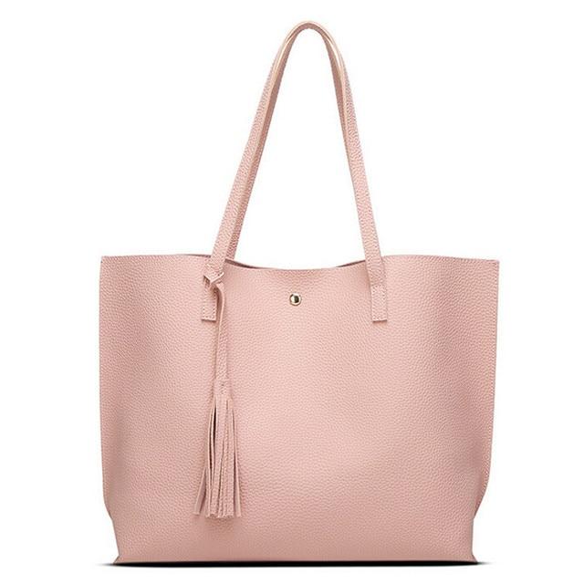 c28d82ae7b Fashion Women Girls Tassels Leather Bag Shopping Handbag Shoulder Tote Bag  100% brand new and high quality A1000