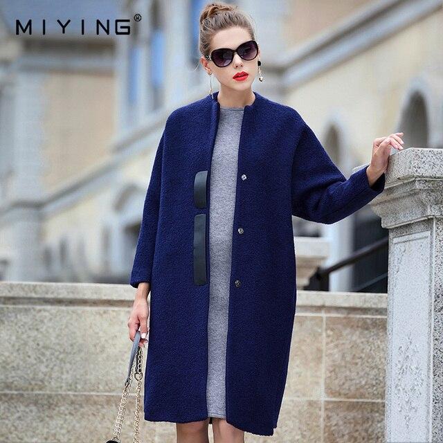 Miying Новинка 2017 года Зимняя шерстяная одежда В европейском и американском стиле Винтаж пальто