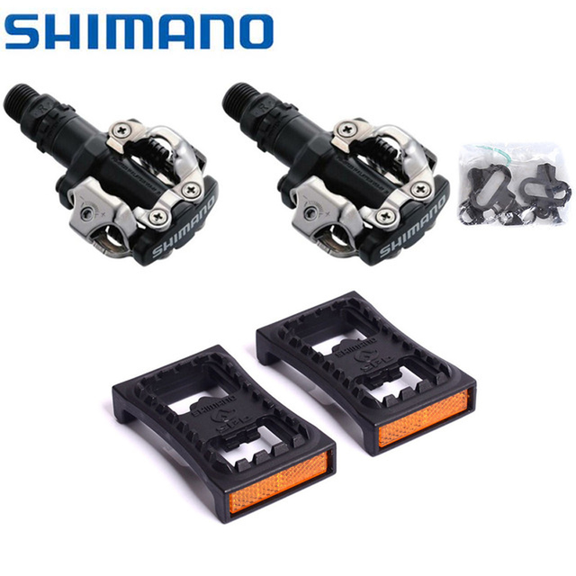 6c65c8671 Shimano PD-M520 MTB Mountain Bike Clipless Pedals with SPD Cleats   SM-PD22  NIB m520 bicycle pedal Bike Parts Black Silver White