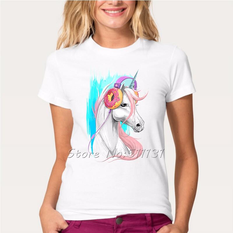 HTB1DhU4OpXXXXX2aFXXq6xXFXXXg - Newest Funny Unicorn Rainbows T Shirt Womens Fashion