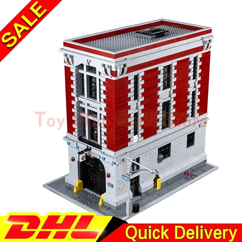 LEPIN 16001 4695Pcs Ghostbusters Firehouse Headquarters Model Building Kits lepins Toys Clone 75827 lepin 16001 4705pcs city street series ghostbusters firehouse headquarters building block bricks kids toys for gift 75827