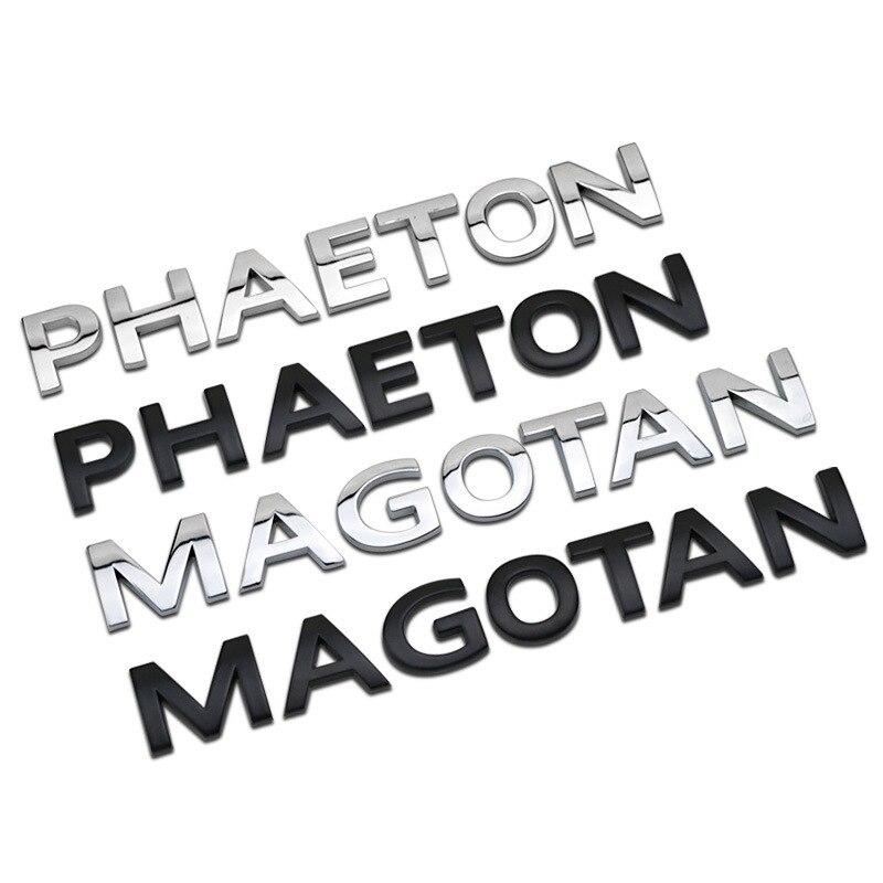 Para Volkswagen VW Phaeton Magotan Tronco Cauda Adesivo de Carro Do Emblema Do Emblema Do Decalque Letters Auto Acessórios