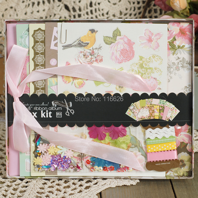 ENOGREETING Creative Flower pattern Set Scrapbooking 8''Diy album - Decoratiune interioara