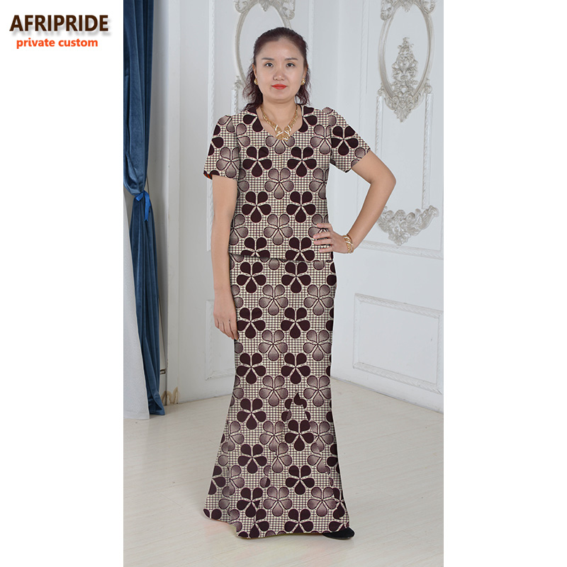Αφρικανικό κομψό φόρεμα για γυναίκες γυναικείες μορφές γυναικείων ενδυμάτων εκτύπωση βαμβάκι κοστούμι από δύο κομμάτια ιδιωτικό έθιμο συν μέγεθος waxA632608