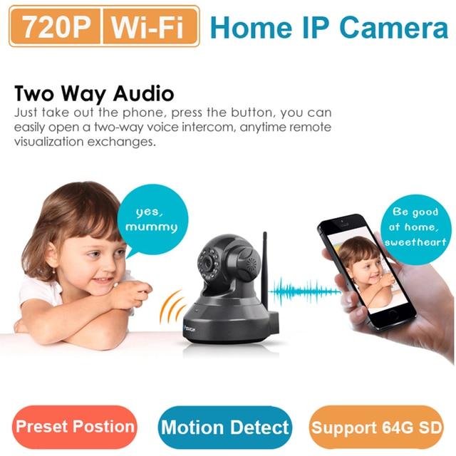Vstarcam C7837(B) 720P mini wifi IP camera wireless webcam, 15 preset position Night Vision support SD card Home Surveillance