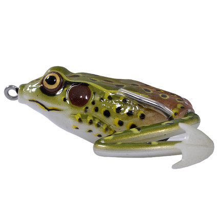 The new simulation  Frog Fishing Lure 55mm 16g water line double hook blackfish designed to kill Ray frog bait lures y0018 wholesale ray frog sets playing blackfish bait lures bait floating frog bait fishing
