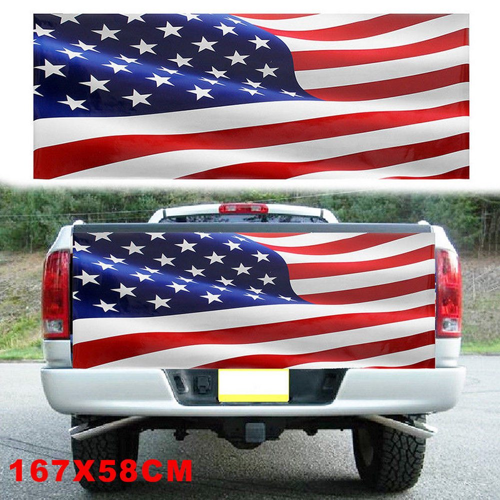 Car stickers american flag 167cm x 58cm waterproof for truck suv tailgate wrap decal sticker vehicle auto exterior sticker