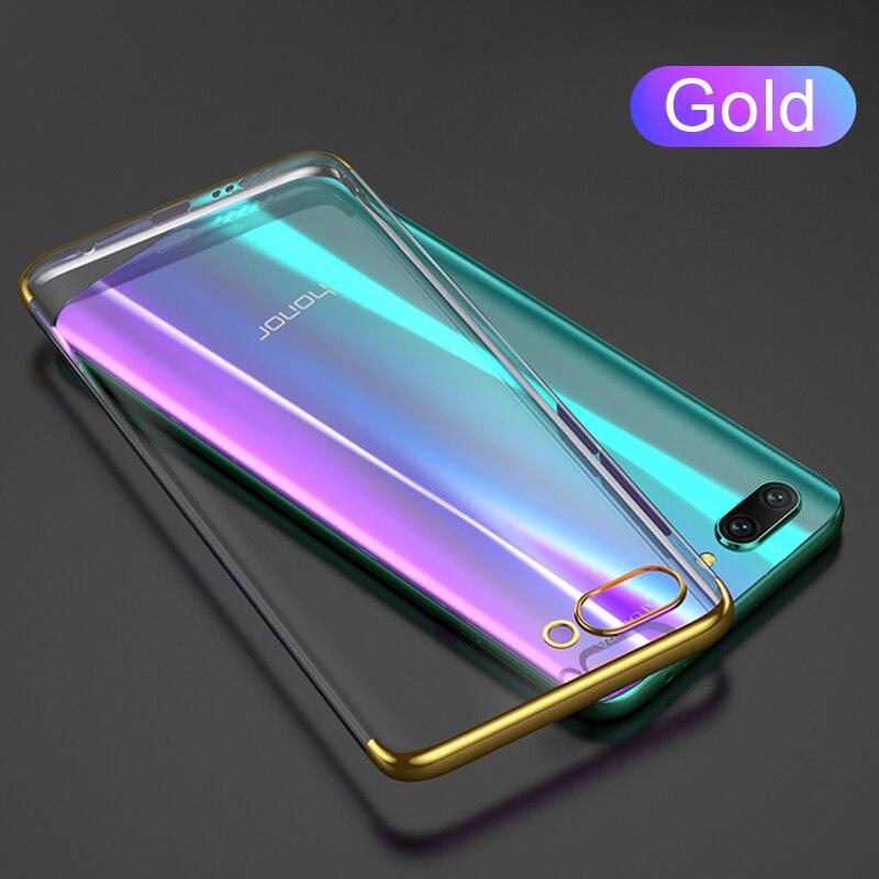 Роскошный ультра-тонкий ТПУ чехол силиконовый мягкий чехол для huawei mate30 P30lite P20lite Nova5T Honor 9X V20 P30 P20 чехол Funda - Цвет: Золотой