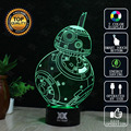 Star wars bb-8 3d novelty night lights lámpara led usb luz del día de fiesta del regalo del niño brillante regalo de navidad hui yuan marca