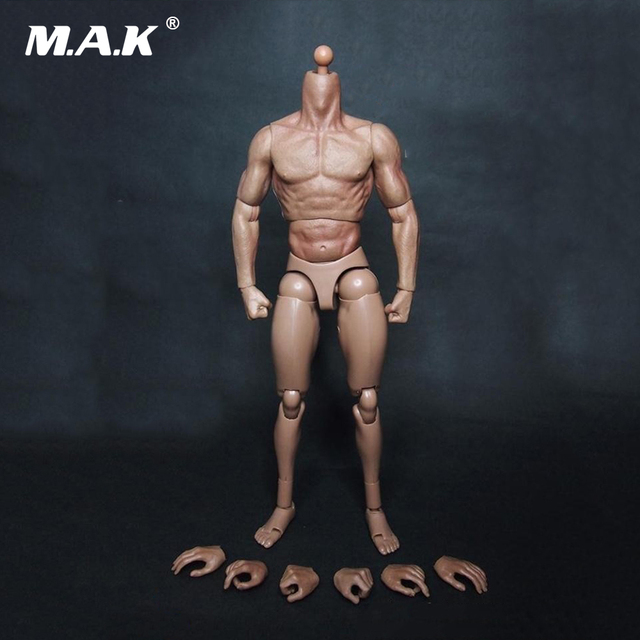 """1:6 Male Body Figure Military Muscular Body Similar to TTM19 For Wolverine 12"""" Soldiers Action Figure Toys Fit Head Without Neck"""