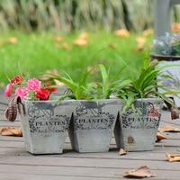 Antique Wooden Sundries Container Garden Flower Pot Planting Storage Box Home Decor Craft Storage Box Wooden