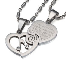 Musical Note Love Heart Necklace