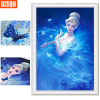 Special Shaped Diamond Painting Cross Stitch Pricess Beauty Diamond Embroidery 5D DIY Diamond Mosaic Rhinestone