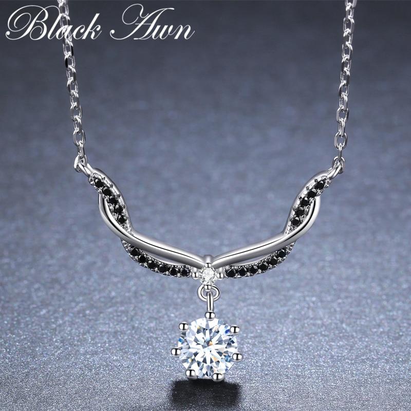 Romantic Arrive 925 Sterling Silver Fine Jewelry Trendy Engagement Necklaces & Pendants For Women Bijoux Femme K029