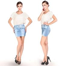 Jeans Skirt Sexy High-Waist Denim Womens Summer Bandage Short Mini One-Size Pencil