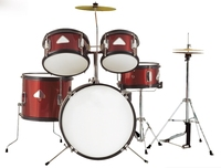 Jinbao Musical Instrument Red Color 5 Pc Junior Drum Set