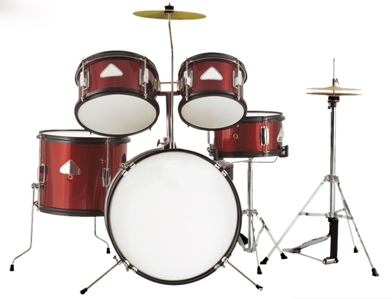 Junior 5-pc Drum set Batterie Percussion instruments de Musique avec baguettes de tambour
