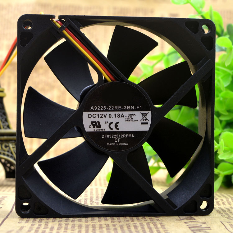 MARSWALLED 90mm 3 Pin Strong Powerful Speed 3400RPM CPU Cooling Fan for Transformer/CPU or Graphics Card Radiator/Video Card|Lamp Radiators| |  - title=