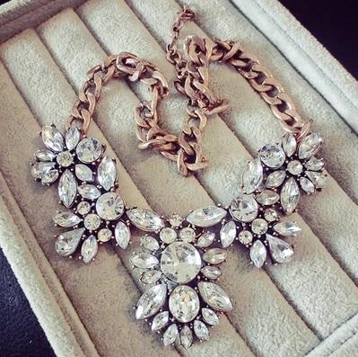 SBY0278 Modna boemska veriga Chokers močna velika izjava Okrašena ogrlica očarljiva