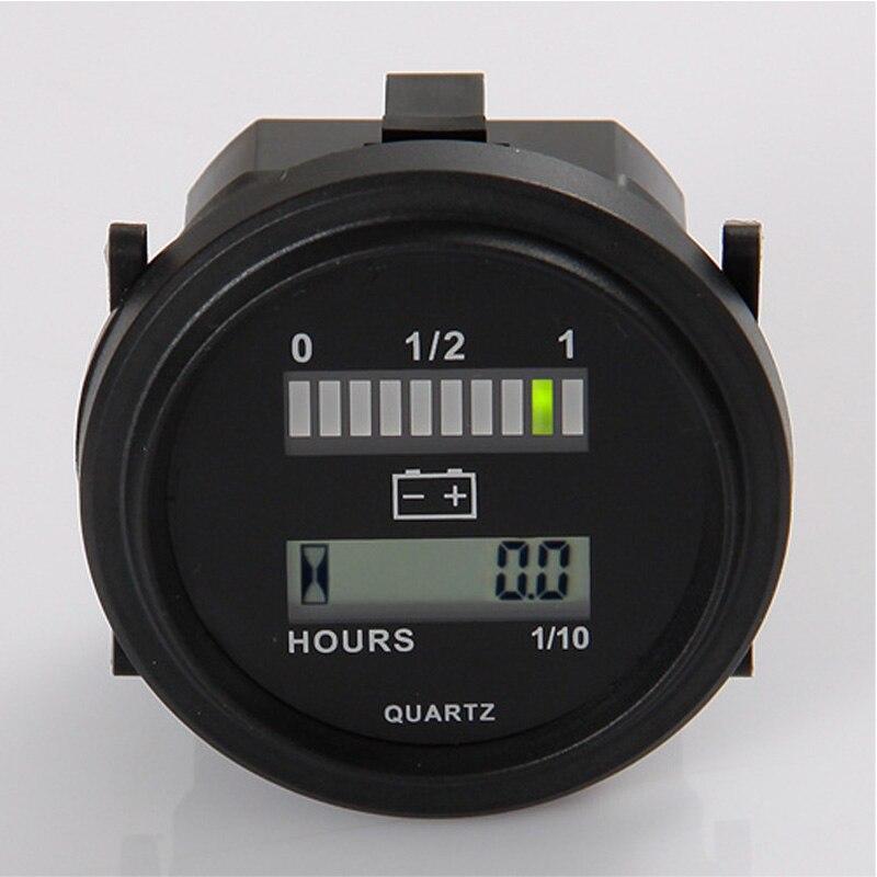 Medidor de hora digital do indicador da bateria do diodo emissor de luz do calibre da bateria para a unidade alimentada 12 v & 24 v, 24 v, 36 v, 48 v, 72 v, motocicleta do golfe