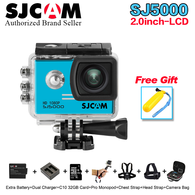 100% Original SJCAM Series SJ5000 Action Camera 1080P full HD Waterproof helmet Sport DV Camera with more cam accessories choose