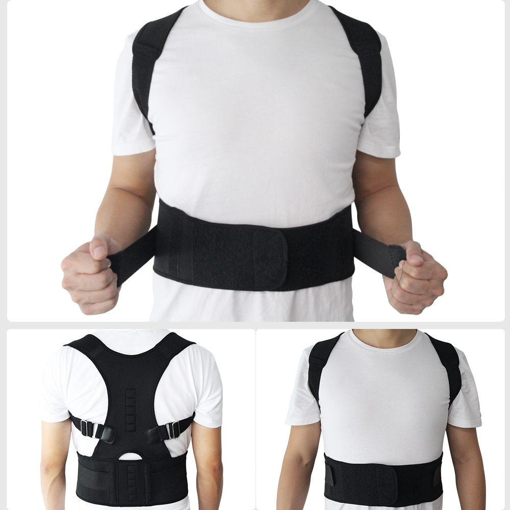 Aptoco Magnetische Therapie Haltung Corrector Brace Schulter Zurück Unterstützung Gürtel für Männer Frauen Hosenträger & Unterstützt Gürtel Schulter Haltung