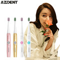 AZDENT A39Plus Wireless Sonic Electric Toothbrush Ultrasonic Tooth Brush Rechargeable Tooth Brush With 4 Bursh Heads