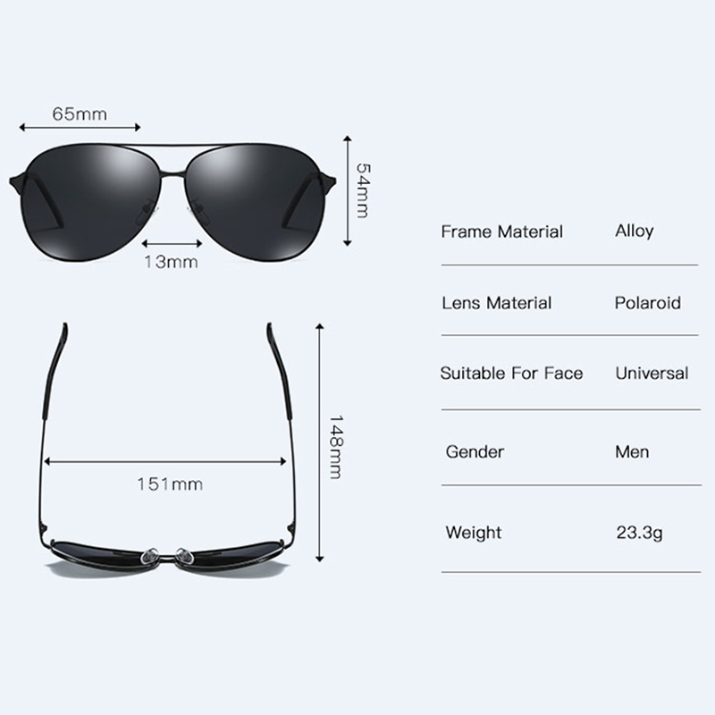 2019 NEW Pilot Sunglasses Men Vintage Polarized Sun Glasses Male Glasses For Driving Classic Shades New Black With Case in Men 39 s Sunglasses from Apparel Accessories