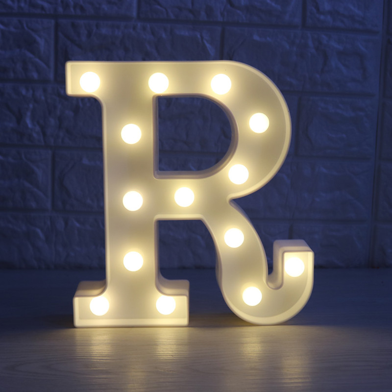 Romantic 26 Letters Night Light 3D Alphabet wall lamp Marquee Letter Table lamp Wedding Decorative Party Lighting Kid Gift creative led 3d nightlight hockey for kid boy gift wall decoration holiday party hockey lighting iy303166 5