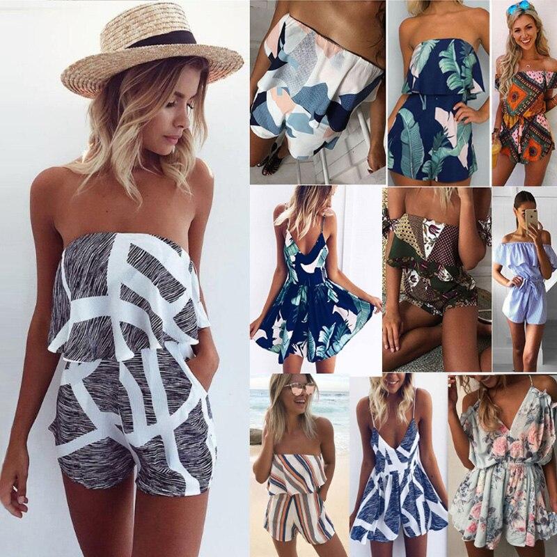 XM Casual 2 Two Piece Set Women Plaid stripe stitching Print Summer Off the Shoulder Crop Top Shorts Zipper 2018 Women Set