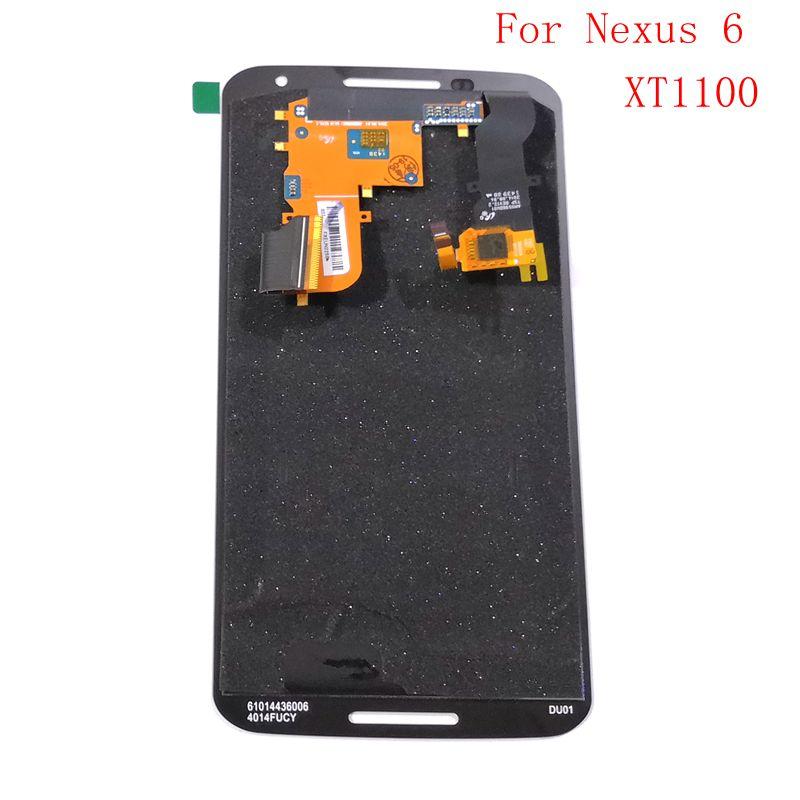 Pour motorola Google Nexus 6 XT1100 XT1103 écran LCD + numériseur tactile en verre pleine approvisila