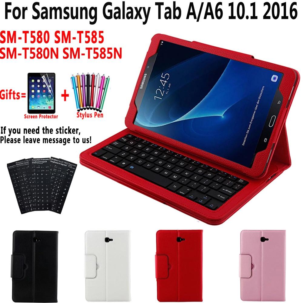SM-T580 SM-T585 cubierta separar funda de teclado Bluetooth para Samsung Galaxy Tab A A6 10,1 2016 T580 T585 T580N T585N caso teclado