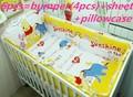 Промо-акция! 6 шт., 100% хлопок, детская постельное белье для детей, Комплект постельного белья для малышей (бамперы + простыня + наволочка)