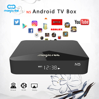 MAGICSEE N5 Android Smart TV Box Support 4K Amlogic S905X Android 7.1 2GB RAM 16GB ROM 2.4G/5G WiFi 100Mbps BT4.1 H.265
