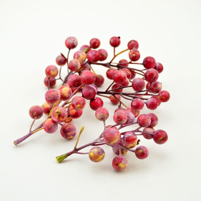 1 Stücke (14 ~ 15 Köpfe) Mini Gefälschte Schaum Obst Kleine Beeren Künstliche Blume Hochzeit Weihnachten Dekoration Scrapbooking Diy Kranz Staubblatt