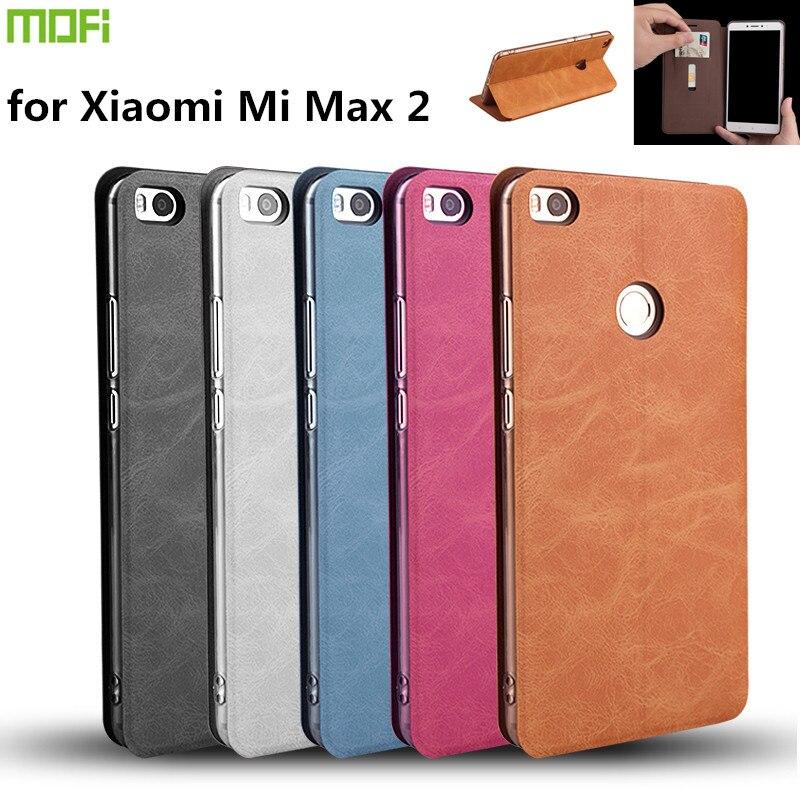 Mofi pour Xiaomi Mi Max 2 Cas Flip Cover Étui En Cuir PU pour Xiaomi Mi Max 2 Max2 Couverture Téléphone Sac avec Support Titulaire de la Carte
