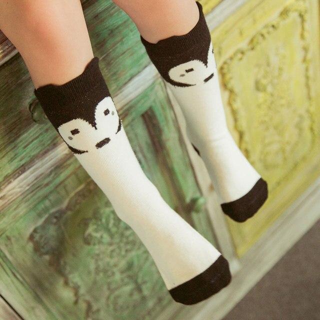 de1dba891 Free Shipping 0-6 Years Korean Winter Long Kids Knee High Socks For Girls  Cute Cotton Children Socks Boys Animal Fox Socks