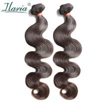 """ILARIA волос норки бразильский тело волна волос 2 Комплект s Класс 8A 0""""-36"""" Сырые Натуральные волосы ткет комплект натуральная волосы утка"""