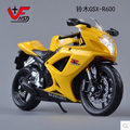 Hot sale  Maisto 1:12 SUZUKI GSX-R600  Alloy motor racing street car model Kids Toy gift yellow Original free shipping