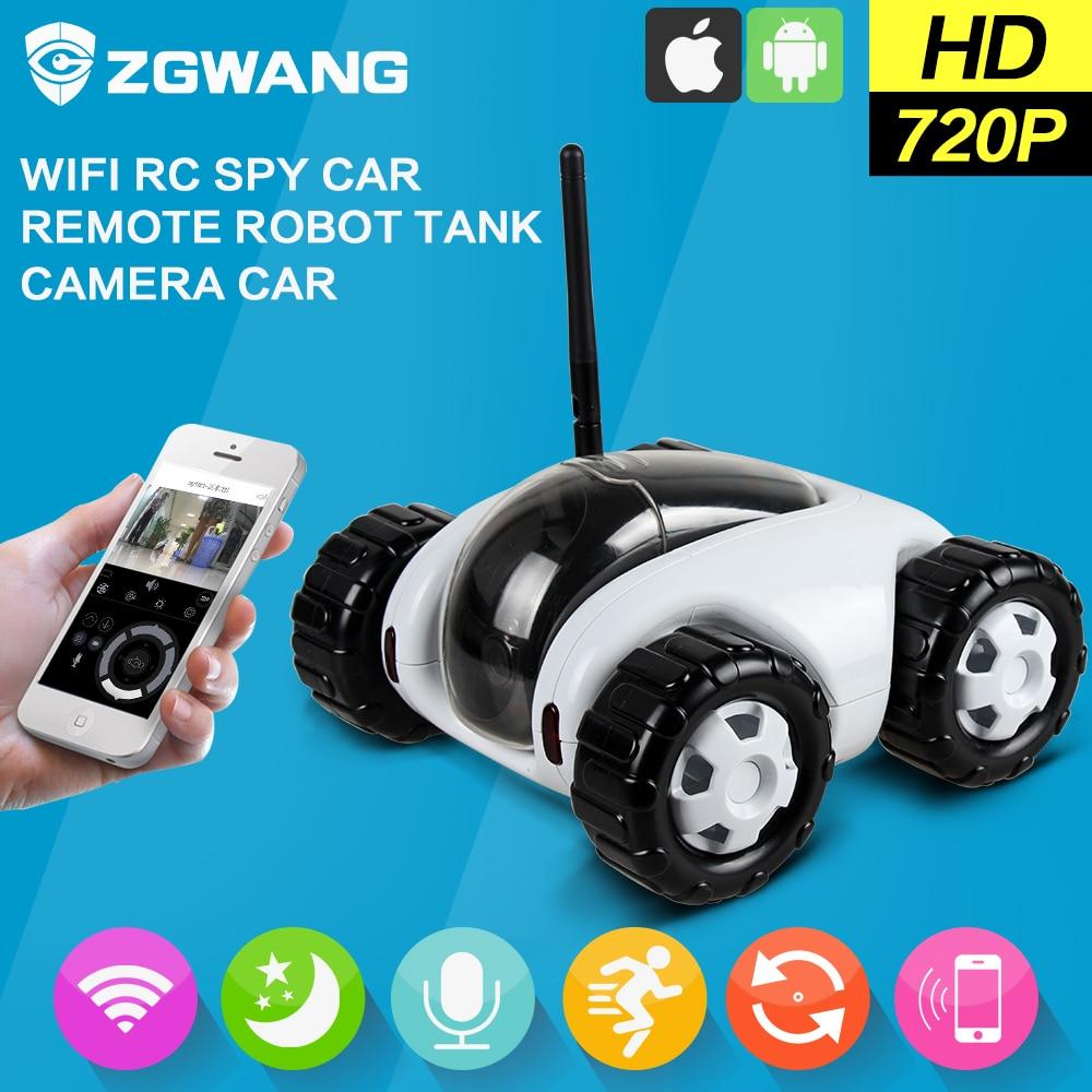ZGWANG 720p HD car camera Wireless WiFi RC Spy Car CCTV Systems Infrared IP Camera Night