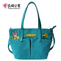 Flower Princess Women Cat Handbags Teenage Girls Crossbody Large Tote Bags handtas torebki damskie sac homme ladies hand bags